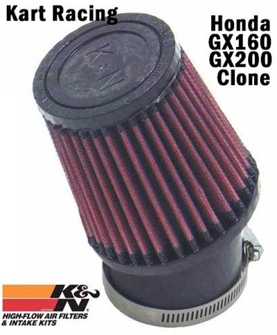 K&N HIGH FLOW ANGLED AIR FILTER and CLAMP